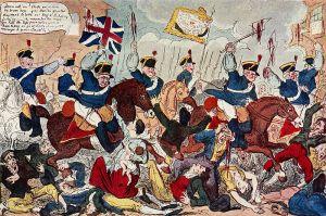 Cruikshank, George. The Massacre of Peterloo. 1819. Public Domain, n.p.