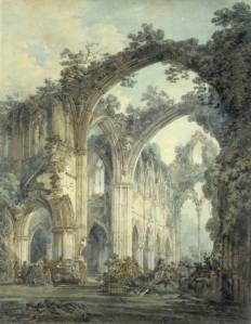 Inside of Tintern Abbey, Monmouthshire exhibited 1794 by Joseph Mallord William Turner 1775-1851