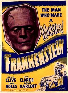 Universal Pictures. Movie Poster Advertisement. 1931. Retrieved from http://ayay.co.uk/background/vintage_movie_posters/1930s/FRANKENSTEIN-1931/