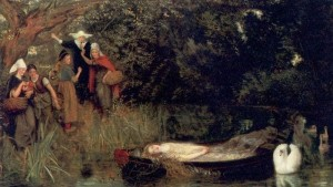The Lady of Shalott; Arthur Hughes 1873