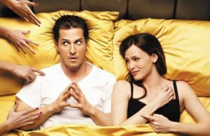 Matthew McConaughey and Jennifer Garner in Ghosts of Girlfriends Past