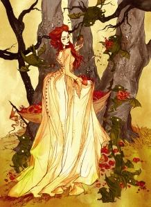 Laura as Eve in the Garden of Eden