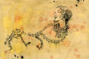 Artwork depicting Porphyria by modern artist Molly Crabapple.