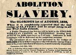 Poster Promoting the Abolition of Slavery