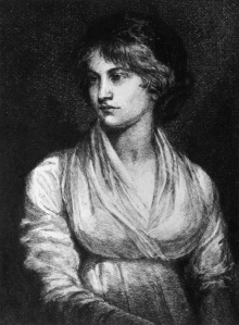 Photo from circe 1780 of English feminist writer Mary Wollstonecraft Godwin (1759-1797). She was the author of A Vindication of the Rights of Men and A Vindication of the rights of Women and also the mother of Mary Wollstonecraft Shelley. This is a drawing by A.S. Merritt based on the painting by Opie. Copyright by ©Hulton Archive