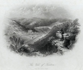 Bartlett's The Vale of Tintern, from the Devil's Pulpit, 1845