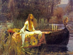 """The Lady of Shallot"" by John William Waterhouse"