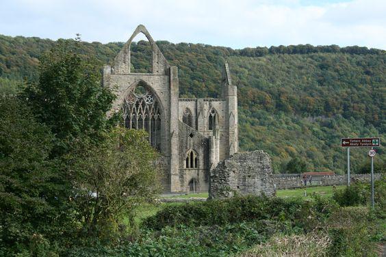 Political landscape in tintern abbey